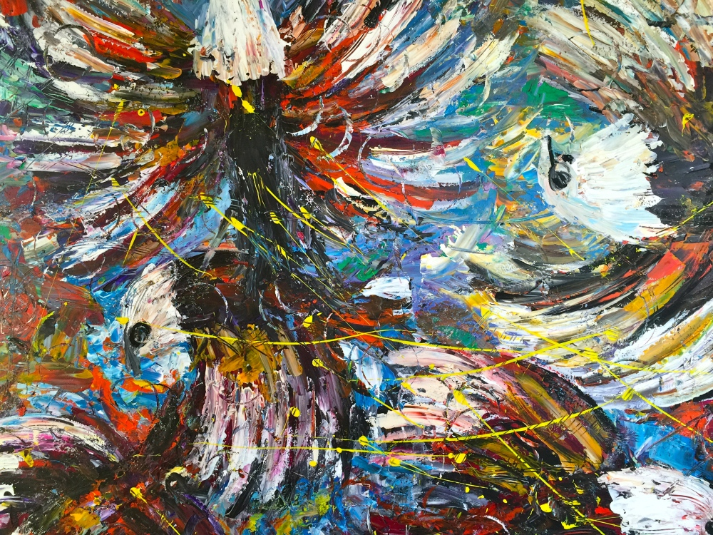 Flying High 96x49 Acrylic on Canvas